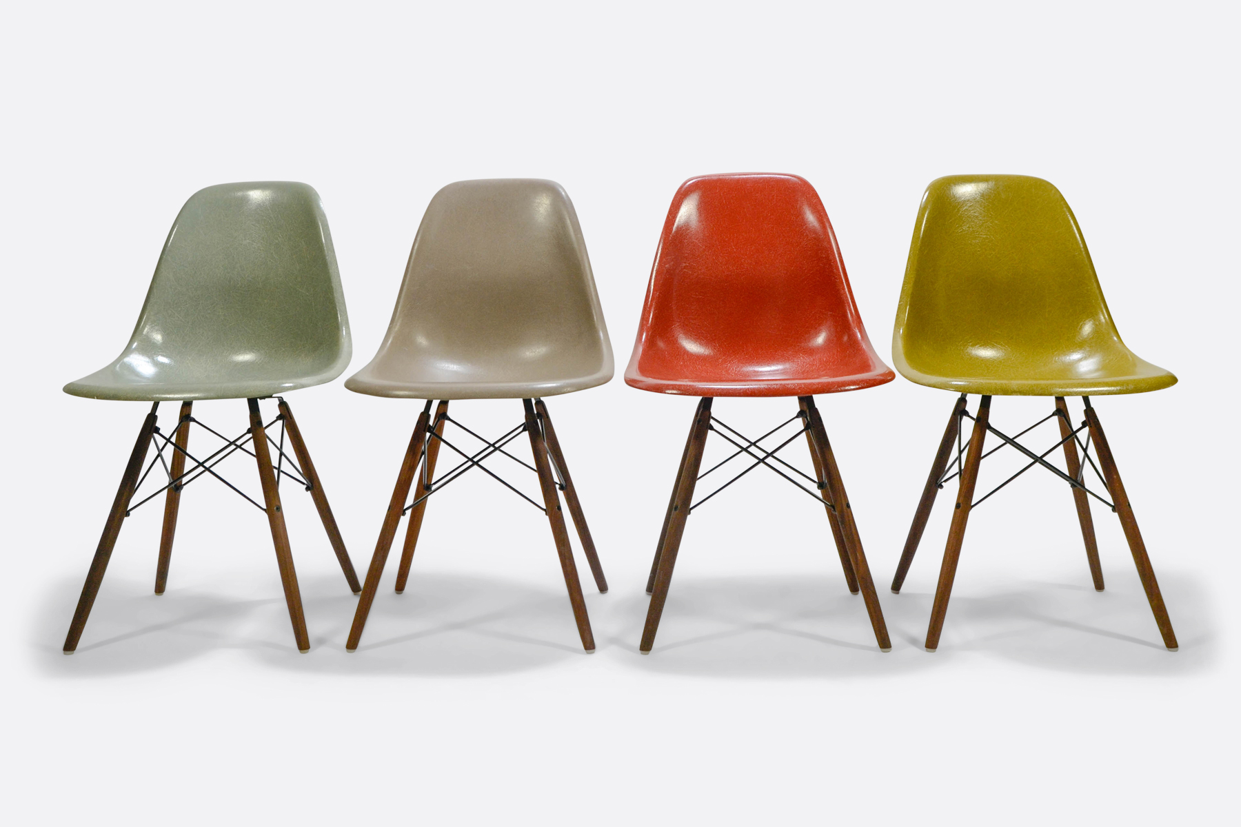 Eames DSW set of 4 Seafoam Green - Greige - Terracotta - Mustard1