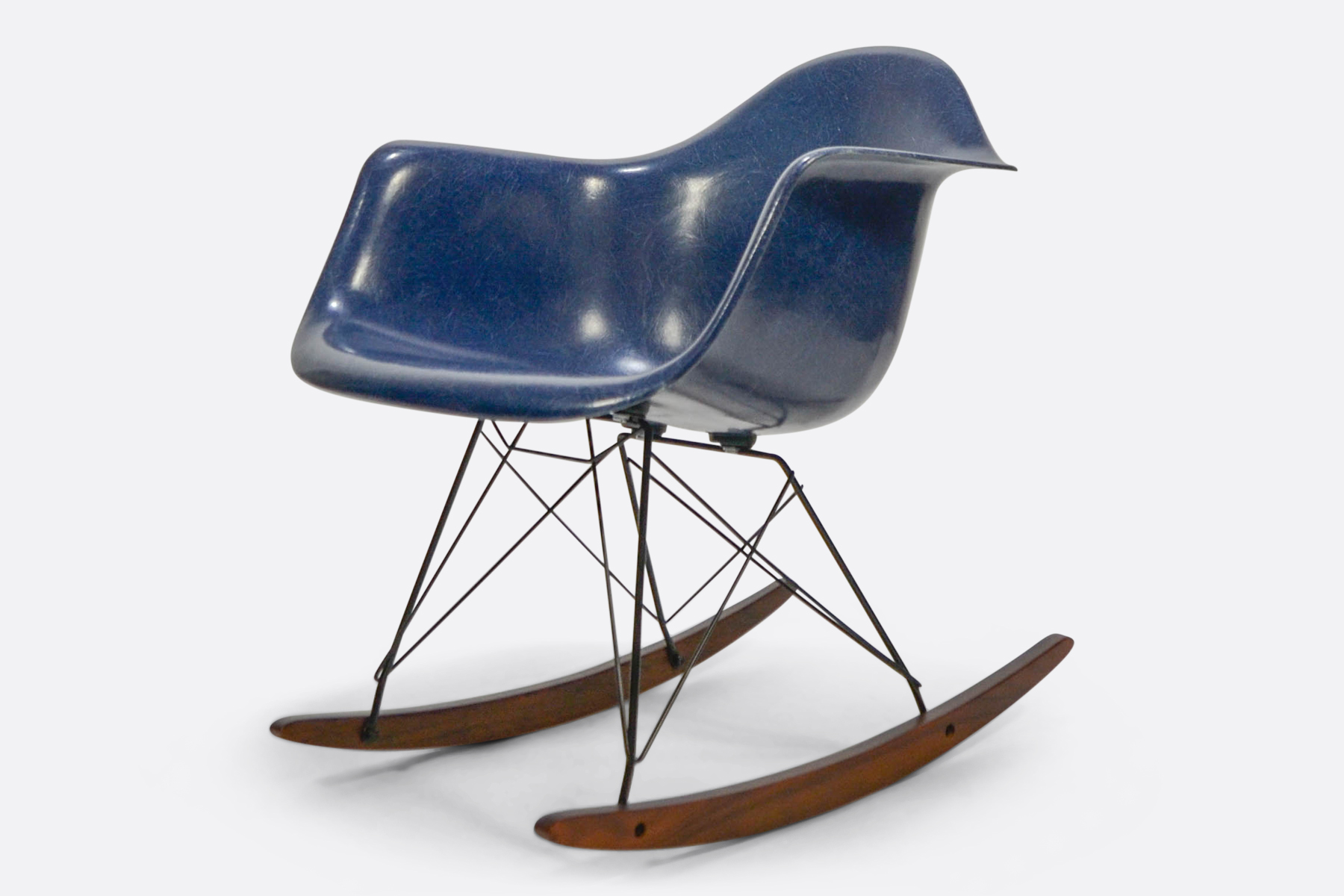 Eames RAR walnut - Navy Blue2