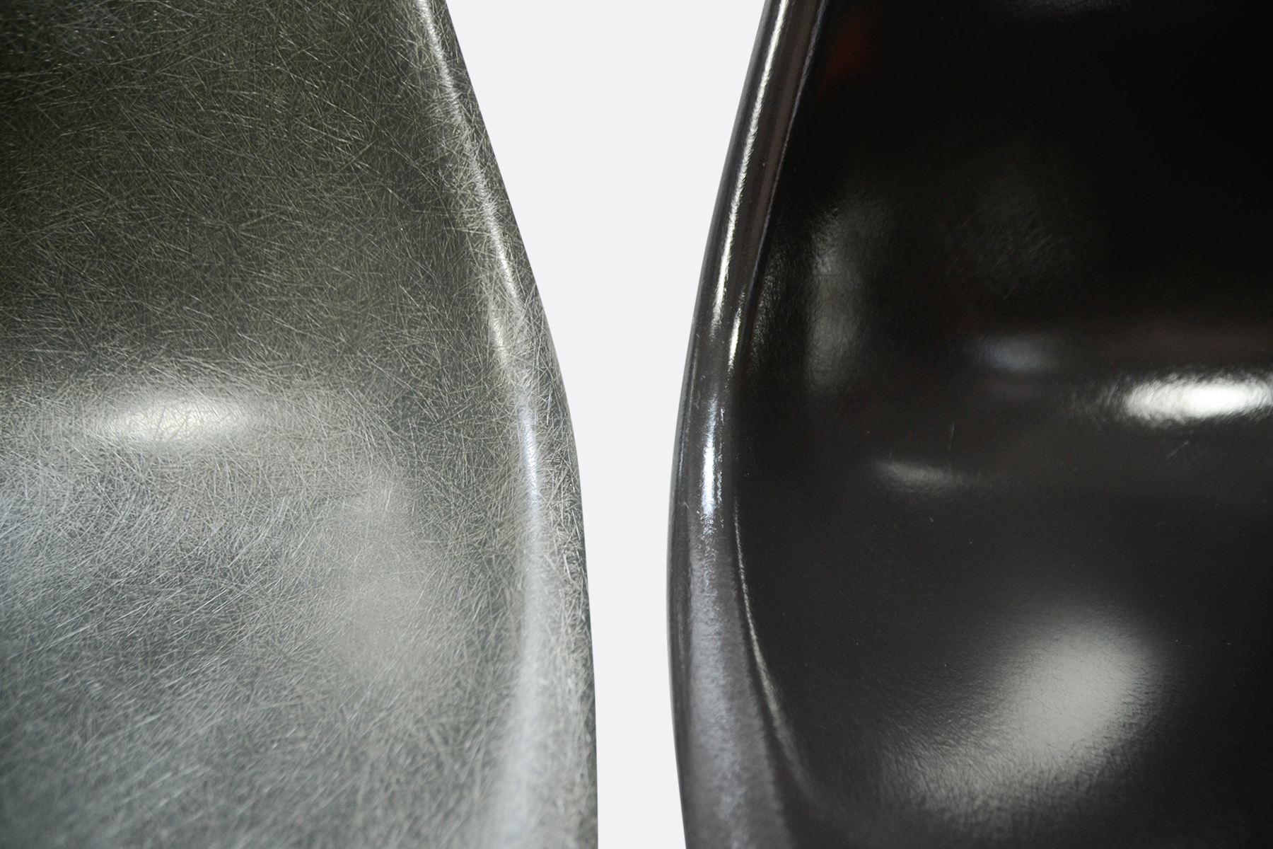 Eames DSR set of 4 Jet Black - Seal Brown - Elephant Grey - Charcoal 3