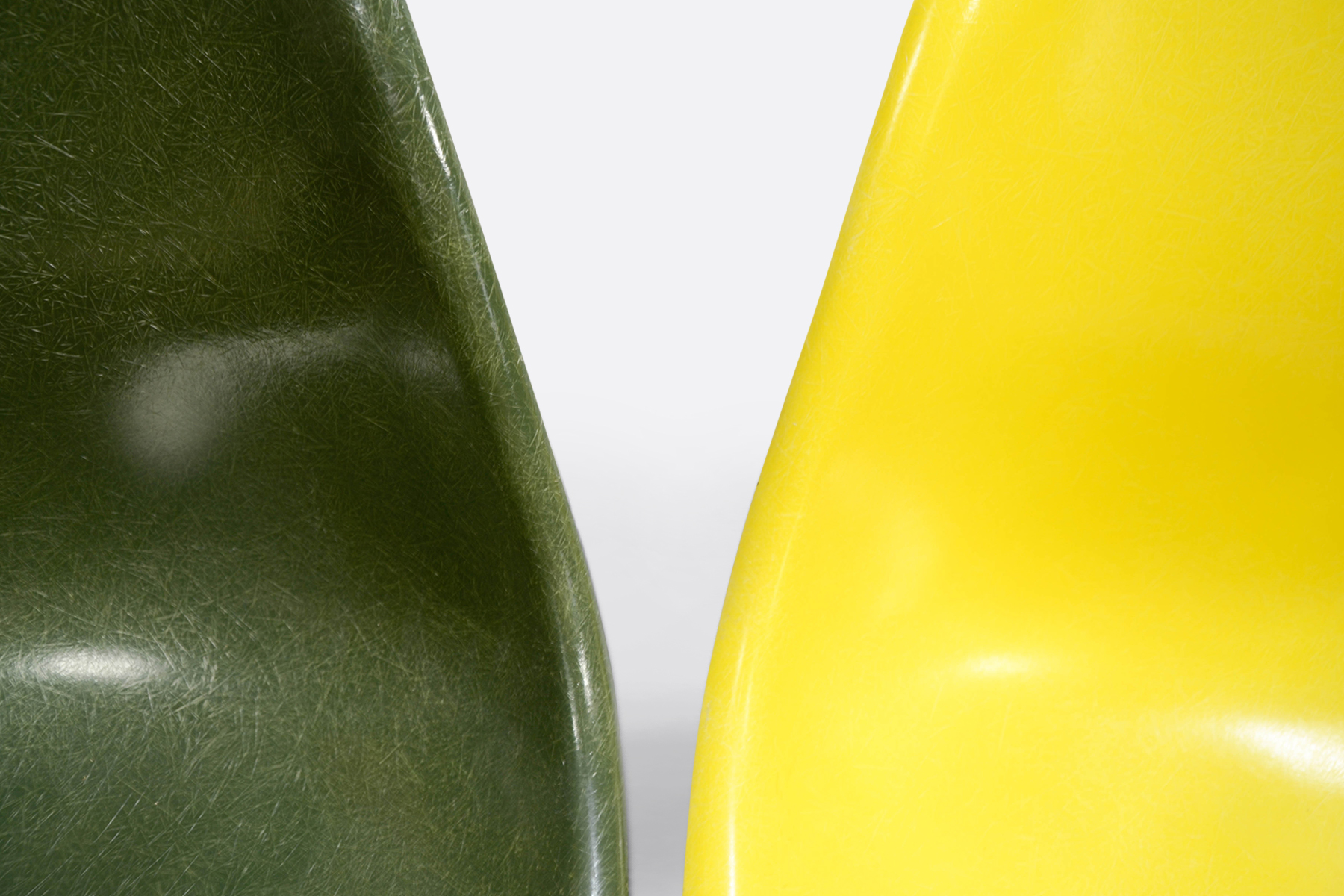 Eames DSW set of 4 Forest Green - Canary Yellow - Lemon Yellow - Off White2