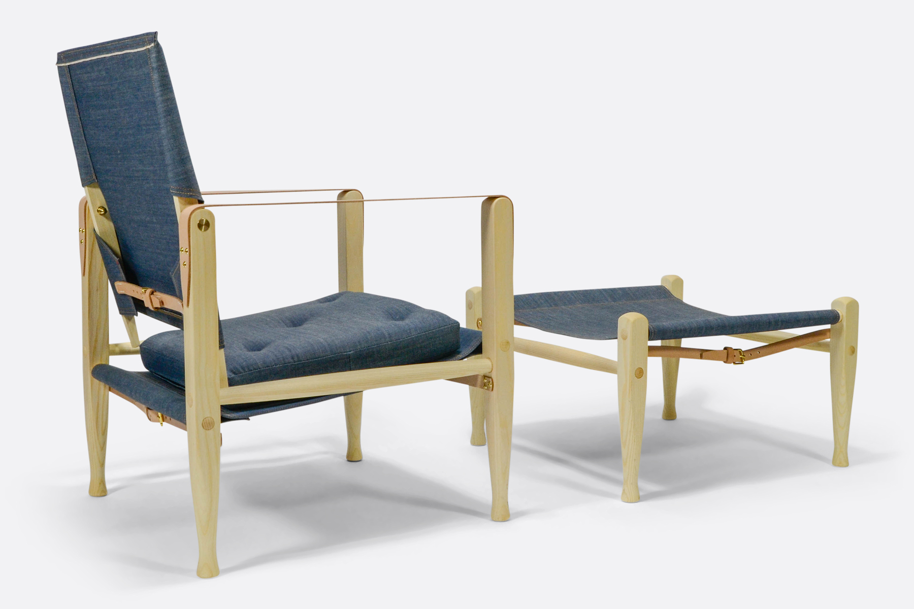 Carl Hansen safari-chair-denim-dia-back