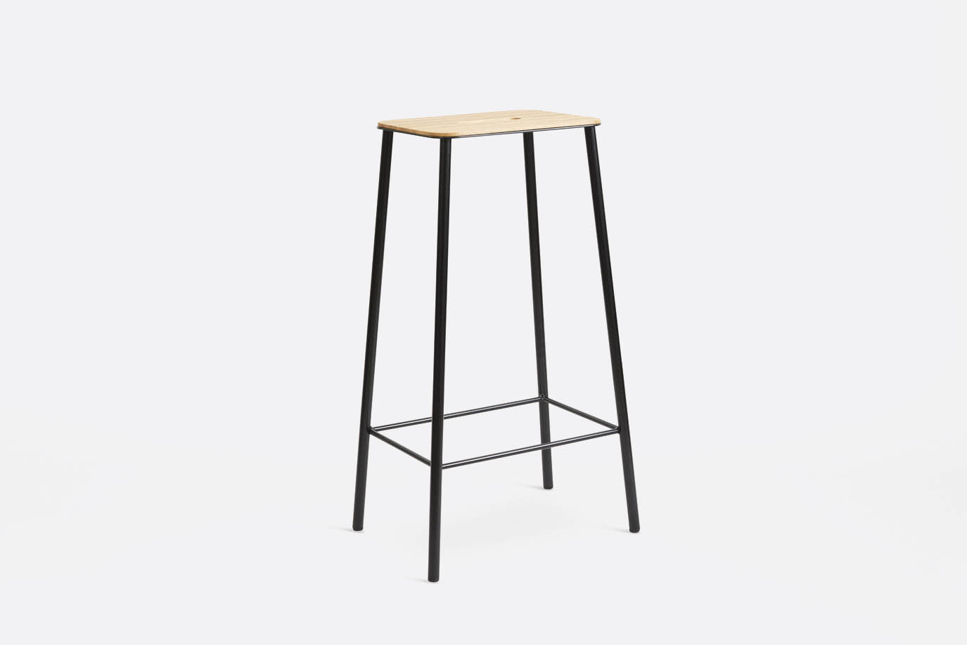 frama - Adam Stool Oak Black H76