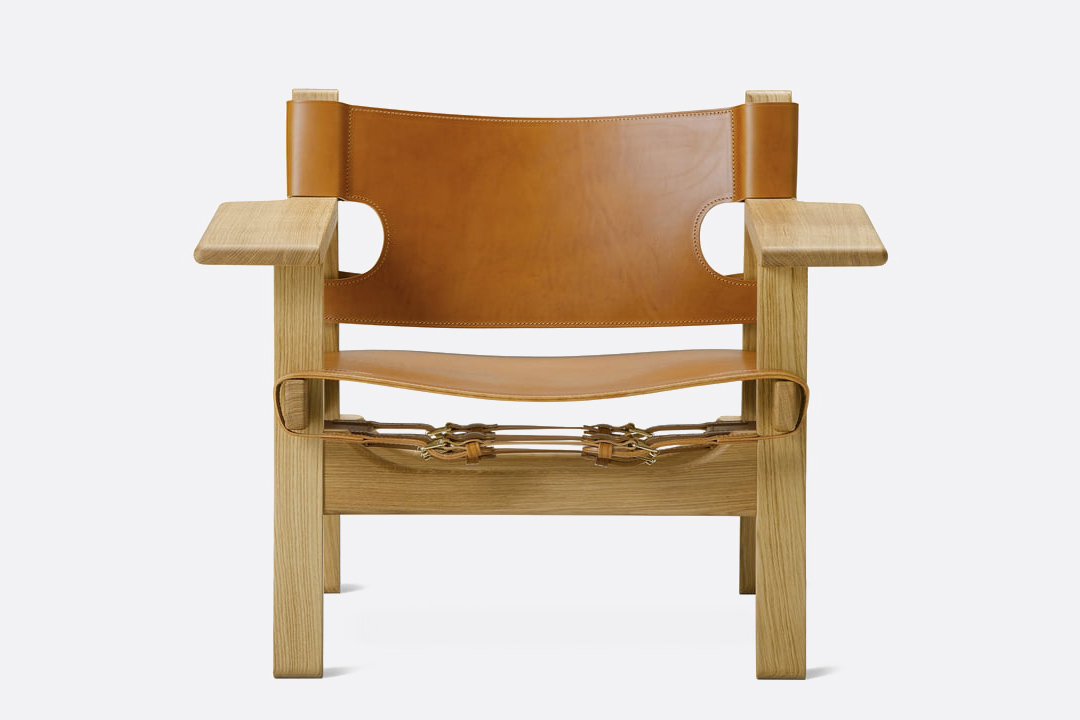 Fredericia-the-spanish-chair-cognac-leather-frontal-The-Modern